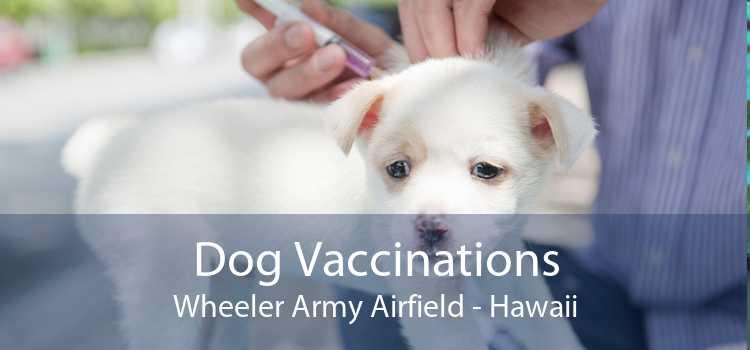 Dog Vaccinations Wheeler Army Airfield - Hawaii